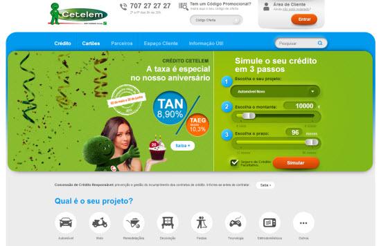 cetelem tem site reformulado e mais agrad vel simula o de cr dito pessoal. Black Bedroom Furniture Sets. Home Design Ideas