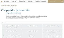 Comparador de comissões bancárias do Banco de Portugal