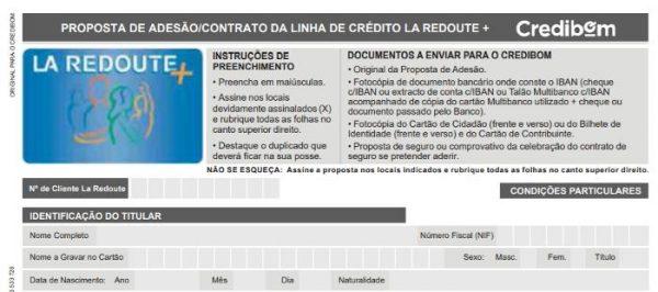 Comprar na La Redoute+ com crédito do Credibom