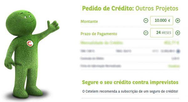 Simulação Cetelem de crédito